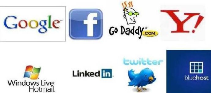 Social Channel and Hosting Companies Logo
