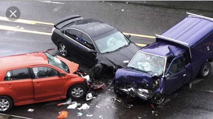 Three Cars Involved in a Car Accident